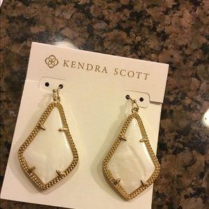 Kendra Scott white Pearl Alex Earrings